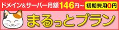 ドメインとサーバーがセットでお得【まるっとプラン】(14-1204)