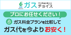 当サイト限定最大30000円現金キャッシュバック!ガス代を今よりお安く!【ガスチョイス】