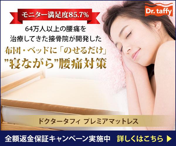 腰痛対策マットレス【ドクタータフィ】
