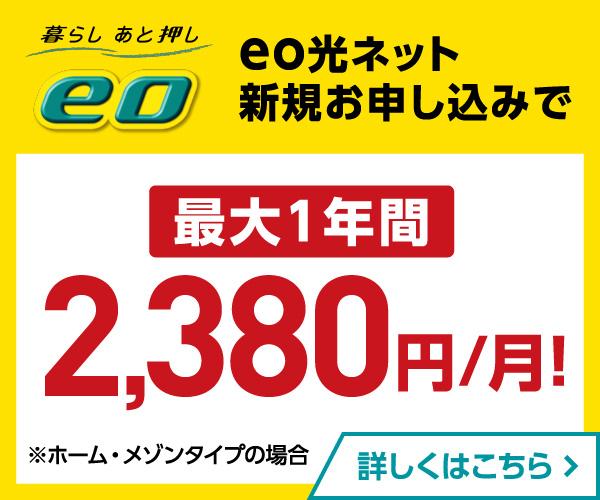 関西で光回線を選ぶなら【eo光】